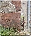 SD0987 : Ordnance Survey Cut Mark by Adrian Dust