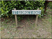 TL9568 : St.George's Road sign by Geographer