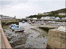 SW6225 : Inner harbour at Porthleven, Cornwall by Derek Voller