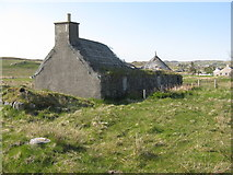 NB2133 : Ruined house at Callanish by M J Richardson
