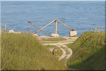 SY6869 : Disused quarry on Portland Bill by Ian S