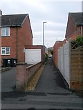 SZ0795 : Northbourne: footpath E55 to Etches Close by Chris Downer