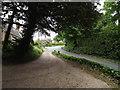 TL9863 : St.John the Divine Church car park entrance by Adrian Cable