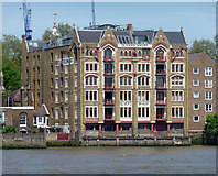 TQ3480 : Oliver's Wharf, Wapping High Street by Stephen Richards
