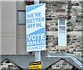 "J3373 : EU referendum ""remain"" poster, Belfast (June 2016) by Albert Bridge"