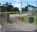 SO3204 : Steps at the northern end of  Goytre Car Park, Penperlleni by Jaggery