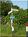 TL9383 : Roadsign on Brettenham Road by Adrian Cable