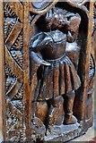 SX1156 : St. Winnow, St. Winnow Church: Vernacular scenes on bench ends by Michael Garlick