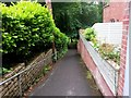 SZ0791 : Bournemouth: footpath B02 nears the Gardens by Chris Downer