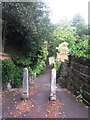 SZ0891 : Bournemouth: footpath B18 from Bradburne Road by Chris Downer