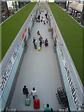 TQ2741 : Inter-terminal shuttle station at London Gatwick North Terminal by Richard Humphrey