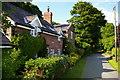 SJ5052 : Cottages on Goldford Lane by Christopher Hilton