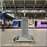 SJ8497 : Platform 10 War Memorial: Right face by Gerald England
