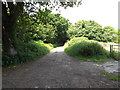 TM1840 : Farm entrance at Orwell Country Park by Adrian Cable