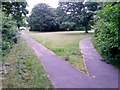 SZ0794 : Ensbury Park: footpaths N29 and N30 diverge by Chris Downer