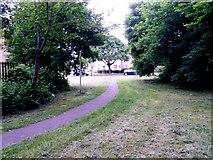 SZ0794 : Ensbury Park: footpath N31 reaches Cornish Gardens by Chris Downer