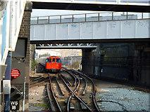 TQ2182 : Bakerloo train leaving Willesden Junction by Robin Webster