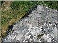 NL6798 : Rivet on rock near Gleann, Barra by Becky Williamson