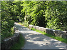 NG5536 : Bridge over Inverarish Burn by M J Richardson