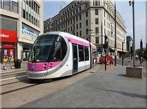 SP0787 : Midland Metro tram no. 32 in Corporation Street, Birmingham by P L Chadwick