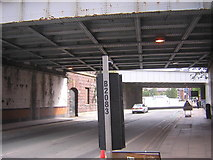 SJ8297 : Manchester: railway bridges on Water Street by Christopher Hilton
