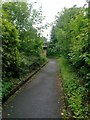 SZ0991 : Bournemouth: approaching the subway on footpath C12 by Chris Downer