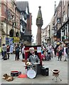 SJ4066 : Mr Peewee, The Drumming Puppet in Chester by Rob Farrow