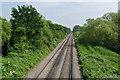TQ0372 : Railway line near Staines by Alan Hunt