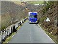 SN9163 : HGV on the Road Alongside Caban Coch Reservoir by David Dixon