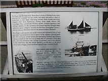 HU4039 : The Shetland Bus, explanatory plaque (2) by David Purchase