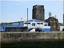 NS2975 : Old structures at James Watt Dock by Thomas Nugent