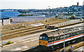 SW4730 : Penzance, station and harbour 1995 by Ben Brooksbank