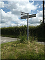 TM0747 : Roadsign on Flowton Road by Adrian Cable