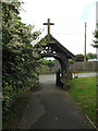 TM0846 : St.Mary's Church Lych Gate by Adrian Cable
