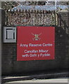 SS5898 : Army Reserve Centre sign, Park Road, Gorseinon by Jaggery