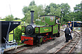 SJ9927 : Amerton Railway - waiting for the right of way by Chris Allen