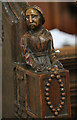 TF8209 : Wooden carving, Ss Peter & Paul church, Swaffham by J.Hannan-Briggs