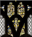 TF8209 : Stained glass window detail, Ss Peter & Paul church, Swaffham by J.Hannan-Briggs