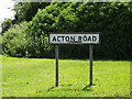 TM1246 : Acton Road sign by Adrian Cable