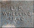 TG2712 : WW2 aerodrome bollard (detail) by Evelyn Simak