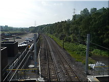 SE2436 : Looking down on the tracks at Kirkstall Forge Station by Rich Tea