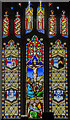 TF8709 : Stained glass window, All Saints' church, Necton by Julian P Guffogg