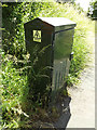 TM1246 : Electricity Cabinet on Paper Mill Lane by Adrian Cable