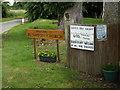 TM0846 : Flowton Church sign by Geographer