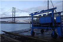 NT1278 : Boat lift, Port Edgar Marina by Richard Webb
