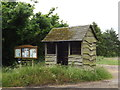 TL9281 : Bus Shelter & Notice Board on the C147 Rushford Road by Adrian Cable
