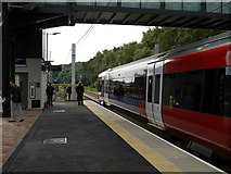 SE2436 : The first Leeds-bound train from Kirkstall Forge Station, about to leave by Rich Tea