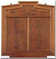 SP9957 : St Mary, Felmersham - War Memorial WWI by John Salmon