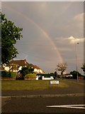 SZ0795 : Northbourne: rainbow over southbound Leybourne Avenue by Chris Downer
