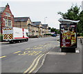 ST3288 : JCDecaux lorry and JCDecaux advert in Maindee, Newport by Jaggery